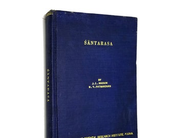 Santarasa and Abhinavagupta's Philosophy of Aesthetics  J.L. Masson Hardcover HC 1969 India
