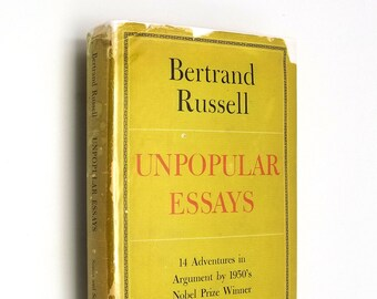 Unpopular Essays by Bertrand Russell 1st Edition Hardcover HC w/ Dust Jacket DJ 1950 Liberal Controversial Mid Century