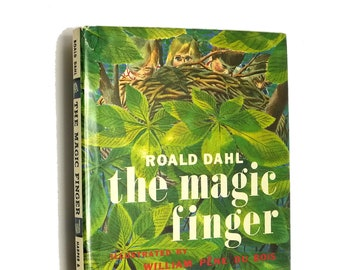 The Magic Finger by Roald Dahl illustrated by William Pene Du Bois Early Printing Hardcover HC w/ Dust Jacket DJ 1966 Harper & Row