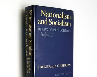 Nationalism and Socialism in twentieth-century Ireland Hardcover HC w/ Dust Jacket DJ 1977 Politics History