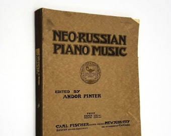Neo-Russian Piano Music by Andor Pinter (ed) 1915 Carl Fischer Sheet Music Songbook