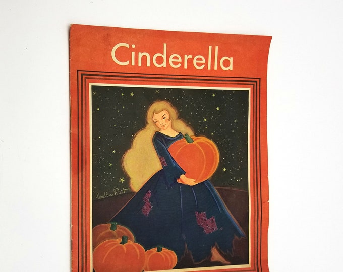 Cinderella: Retold for Little Children to Read by Marjorie Hardy, Emilie C. Bradbury & Fern Basil Peat 1943 American Crayon Co
