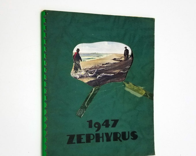 Astoria High School Yearbook (Annual) 1947 - Zephyrus Clatsop County Oregon OR + 50 Year Reunion Program and Photo
