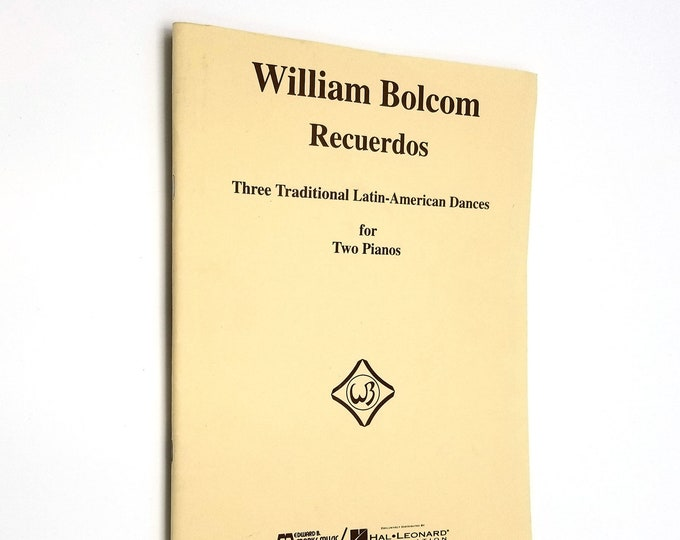 Recuerdos: Three Traditional Latin-American Dances for Two Pianos by William Bolcom 1993 Sheet Music Songbook