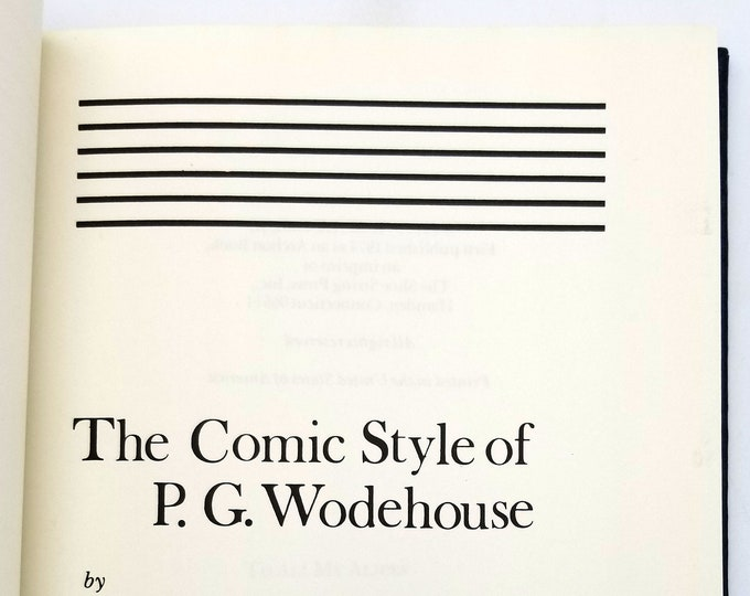 The Comic Style of P. G. Wodehouse by Robert A. Hall, Jr. Hardcover 1974 Literary Criticism