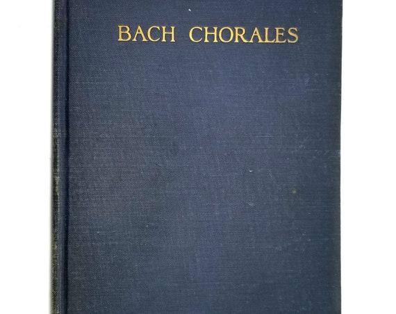 Twenty-Five Chorales by John Sebastian Bach 1922 Hardcover EC Schirmer Music - Sheet Music Songbook