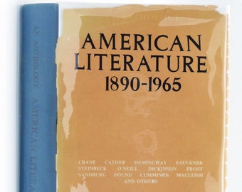 American Literature 1890-1965: An Anthology by Egbert Oliver (ed) Signed Hardcover HC w/ Dust Jacket DJ - Eurasia Publishing House