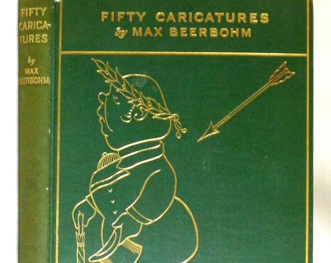 Fifty Caricatures 1913 by Max Beerbohm - 1st Edition Hardcover HC - Dutton - Art Drawing Sketches - Antique