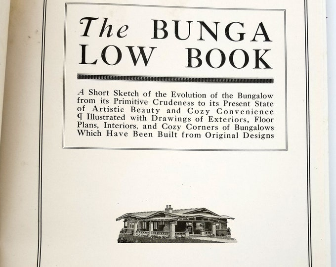 The Bungalow Book [The Wilson Bungalows] by Henry L. Wilson Hardcover 1910 Antique House Architecture Design