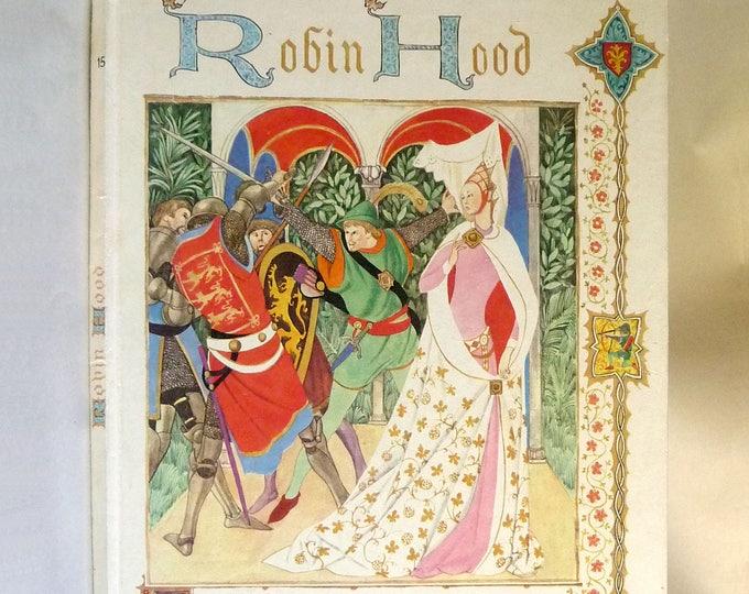 Robin Hood 1961 by Alexandre Dumas Illustrated by Benvenuti - Hardcover HC - W.H. Allen and Co. Ltd London