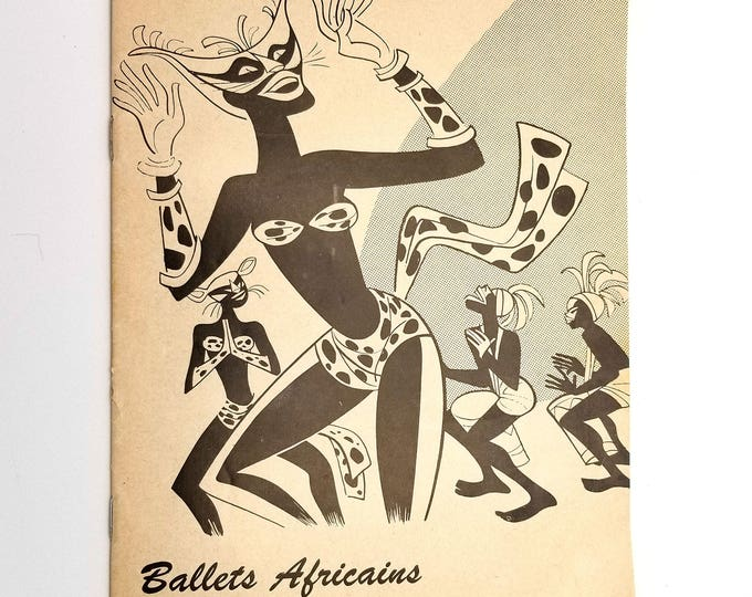 Luben Vichey presents Ballets Africains De La Republique de Guinee (The Playgoer) 1961 Curran Theater San Francisco, CA