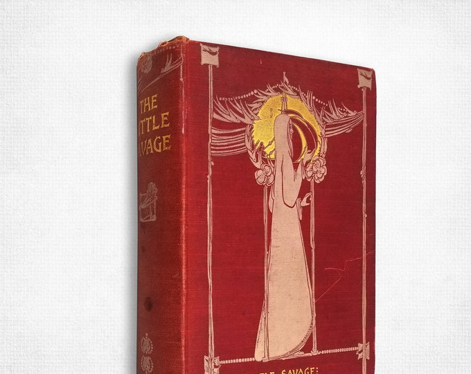 Antique Fiction: The Little Savage by Captain Marryat illustrated by A.W. Cooper & Sir John Gilbert Hardcover 1889 George Routledge and Sons