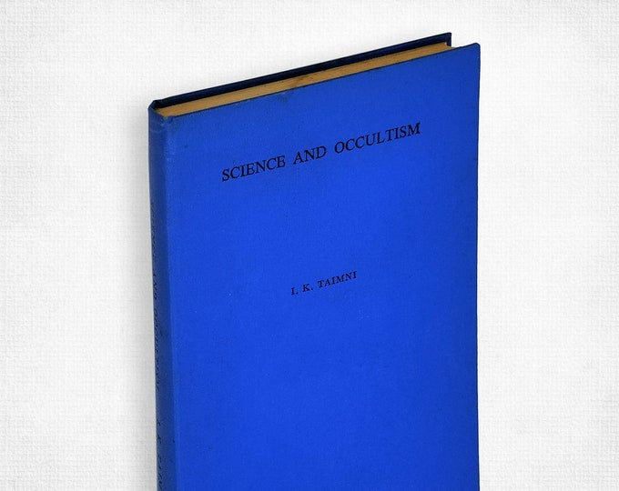 Science and Occultism by I.K. Taimni Hardcover 1974 Theosophy, Relativity, Time & Space
