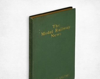 The Model Railway News - Steam, Electric and Clockwork (Vol. XXI, January-December 1945) Hardcover Hard Bound Volume