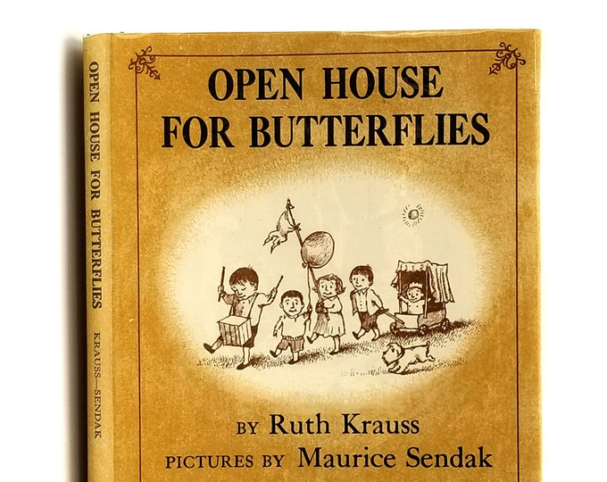 Open House for Butterflies SIGNED Maurice Sendak Ruth Krauss 1988 in Dust Jacket - Children's - Illustrated - Picture Book