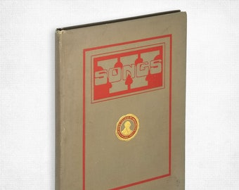 Antique Schools Song Book: Washington State College Favorite Songs by Homer J. Collins Hardcover 1916 Pullman, WA WSU Music