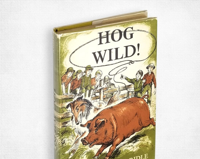 Vintage Children's/YA Fiction: Hog Wild! by Julia Brown Ridle illustrated by Leonard Shortall Hardcover in Dust Jacket 1961