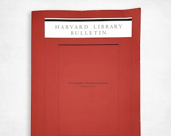 A Discography of the Harvard Vocarium - Harvard Library Bulletin Fall/Winter 2004 Volume 15 Numbers 3-4 by Josephine Packard