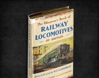 The Observer's Book of Railway Locomotives of Britain Hardcover in Dust Jacket 1958 Frederick Warne and Co. London