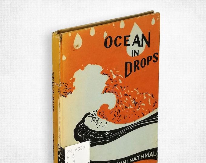Ocean in Drops by Muni Nathmal  1st Edition Hardcover 1970 Jainism Acharya Shri Mahapragya Spiritual Reflections