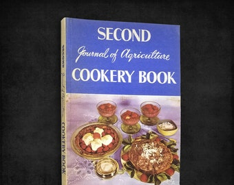Vintage New Zealand Cookbook: Second Journal of Agriculture Cookery Book 1959 Recipes Cooking