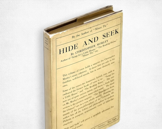 Antique Poetry: Hide and Seek by Christopher Morley 1st Edition 1st State Hardcover in Dust Jacket 1920