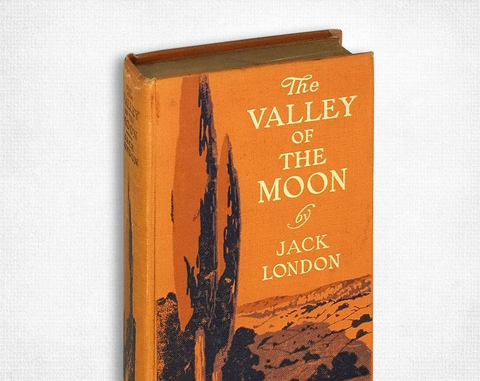Antique Classic Fiction: The Valley of the Moon by Jack London 5th Printing Hardcover 1913 Macmillan