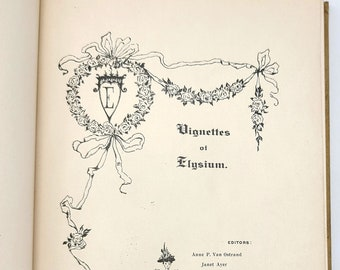 Vignettes of Elysium 1895 Yearbook [Misses Ely's School for Girls, New York] - Boarding School - Women - Antique