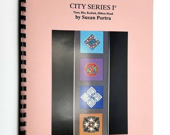 City Series I: Taos, Rio, Kodiak, Hilton Head by Susan Portra 1991 Needlepoint Embroidery Patterns