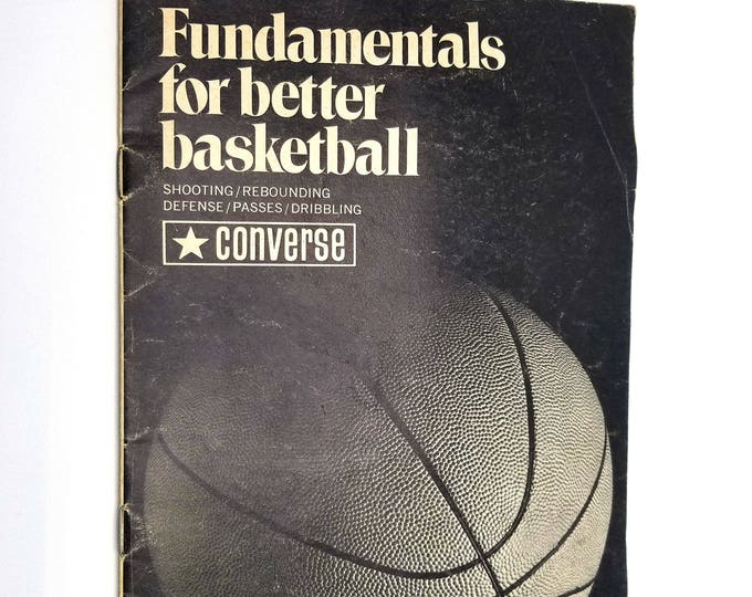 Fundamentals for Better Basketball - Converse Rubber Company - Shoes - Guide Instruction How To - Ca. late 1960's early 1970's