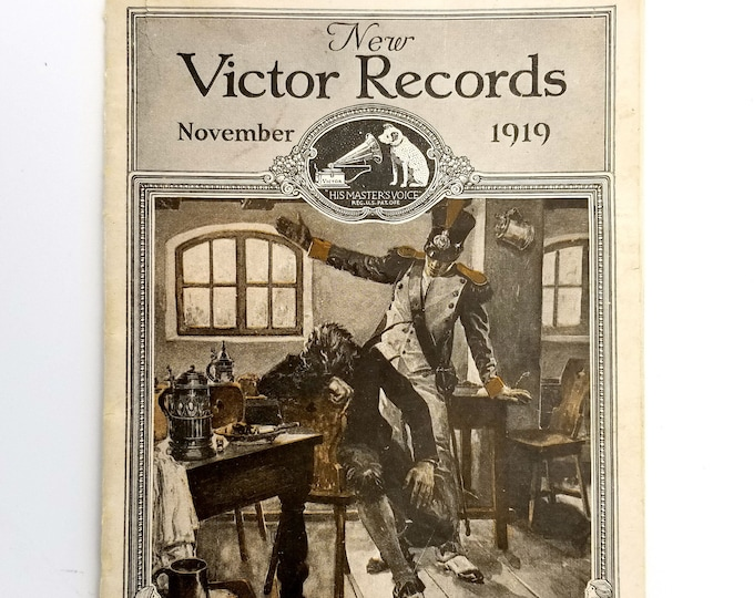 New Victor Records Catalog November 1919 Victor Talking Machines Company
