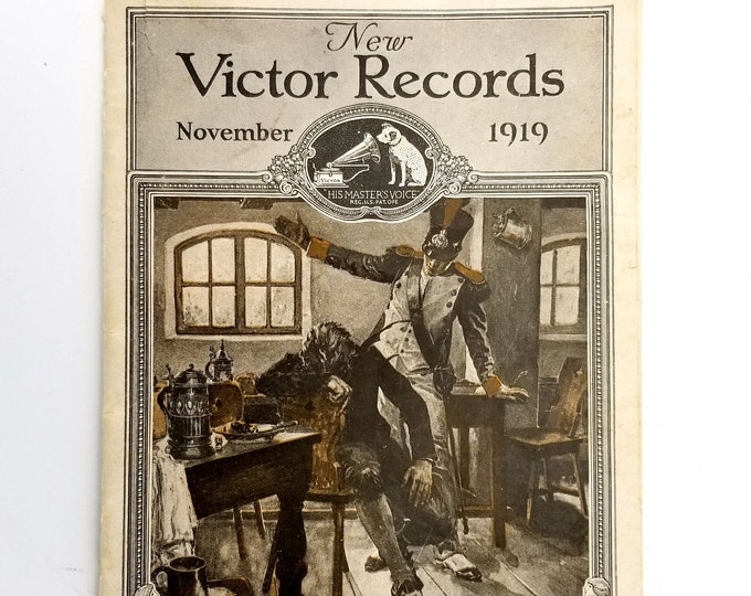 New Victor Records Catalog November 1919 Victor Talking Machines Company
