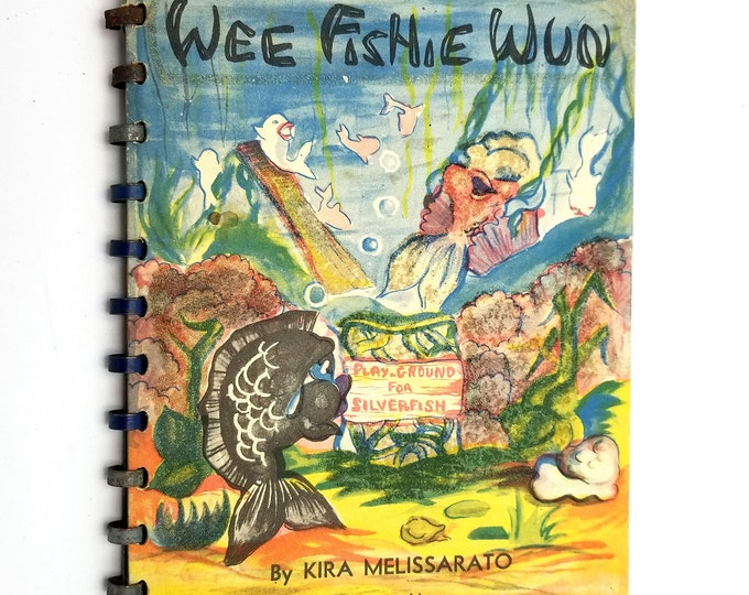 Wee Fishie Wun by Kira Melissarato illust. by John V. Schwarzman 1945 Cupples & Leon Children Picture Fish Story