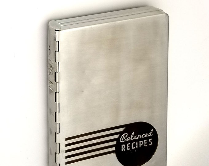 Vintage Cookbook: Balanced Recipes 1938 - Mary Ellis Ames - Pillsbury Cooking Service - Aluminum Case