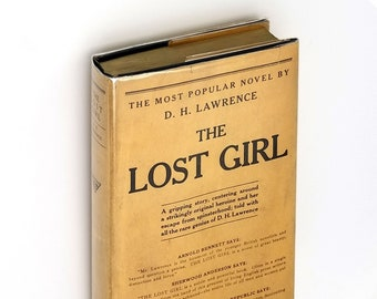 The Lost Girl Hardcover in Dust Jacket 1927 by D.H. Lawrence - Early (3rd) Printing