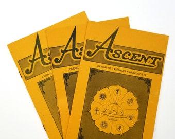 Ascent: Journal of Yasodhara Ashram Society (1970, vol. 1, nos. 4, 5, 6) Swami Siva Radha - Vedanta - Hindu - Psychedelics - Counterculture