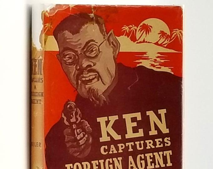 Vintage YA Fiction: Ken Captures a Foreign Agent in Dust Jacket 1943 by Basil Miller - World War II - WWII