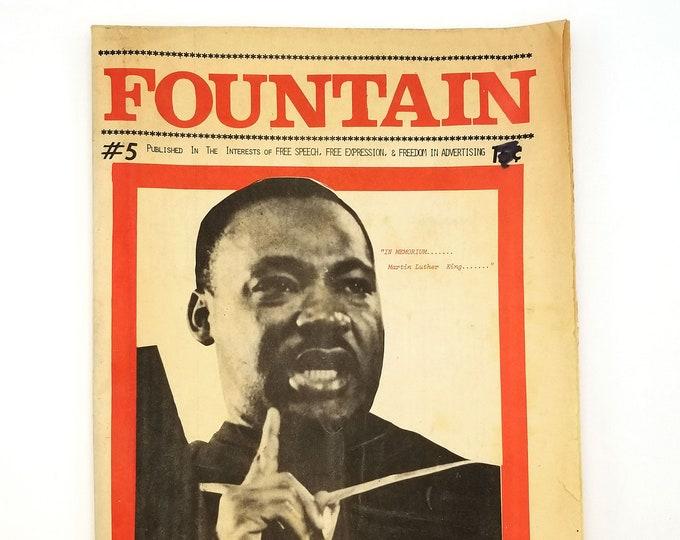 Vintage Portland Underground Newspaper: The Fountain (vol. 1, no. 5, Apr. 2-9, 1971) Oregon Community Newspaper - Allen Ginsberg