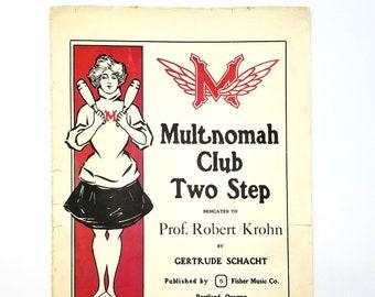Multnomah Club Two Step Portland Oregon 1905 Gertrude Schacht MAC Athletic MAAC
