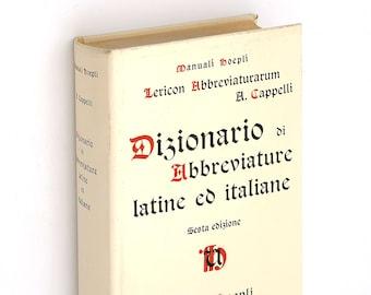 Dizionario di Abbreviature Latine ed Italiane - Cappelli - Medio-Evo Brachylogy
