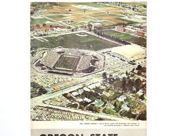 Oregon State vs University of Colorado football program 1963 held in Portland OR