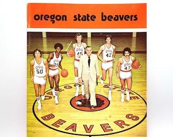 Oregon State University Basketball Press Book 1974-1975 Beavers ~ Lonnie Shelton ~ Ralph Miller