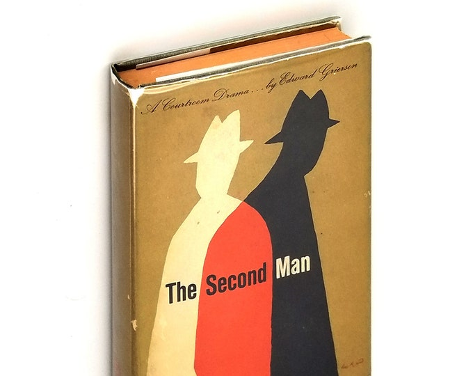 Vintage Mystery/Crime Fiction: The Second Man Hardcover in Dust Jacket 1956 by Edward Grierson