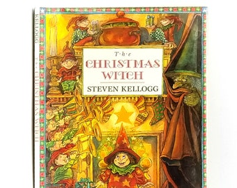 The Christmas Witch SIGNED 1st Edition in Dust Jacket 1992 by Steven Kellogg - Children's - Illustrated