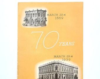 70 Years 1869-1939 Ladd & Bush Bank Salem Oregon Banking History Marion County