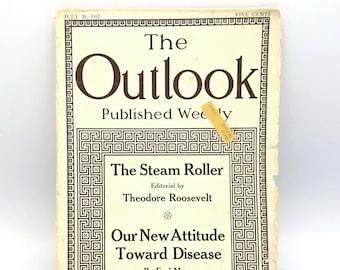 Antique Magazine: The Outlook (July 20, 1912) Teddy Roosevelt - Lyman Abbott - Lucy Rider Meyer - Earl Mayo - Politics - Health