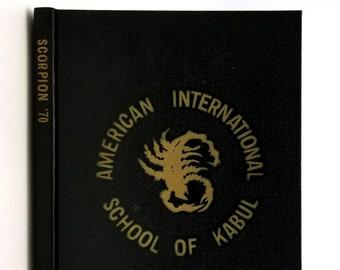 American International School of Kabul 1970 Scorpion Yearbook Afghanistan