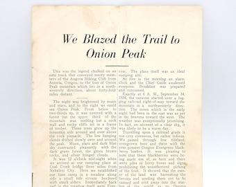 We Blazed the Trail to Onion Peak by AUGUST HILDEBRAND Angora Hiking Club ~ Clatsop County, Oregon