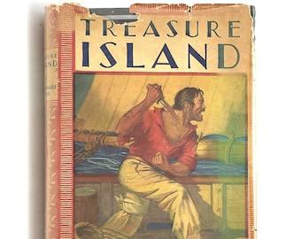 Treasure Island ROBERT LOUIS STEVENSON 1939 illustrated Milo Winter ~ Rand McNally in dust Jacket