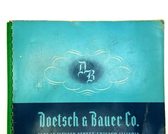 Vintage Furniture Catalog: Doetsch & Bauer Co. 1940 Catalogue - Chicago - Couches - Chairs - Divans - Davenports - Settees